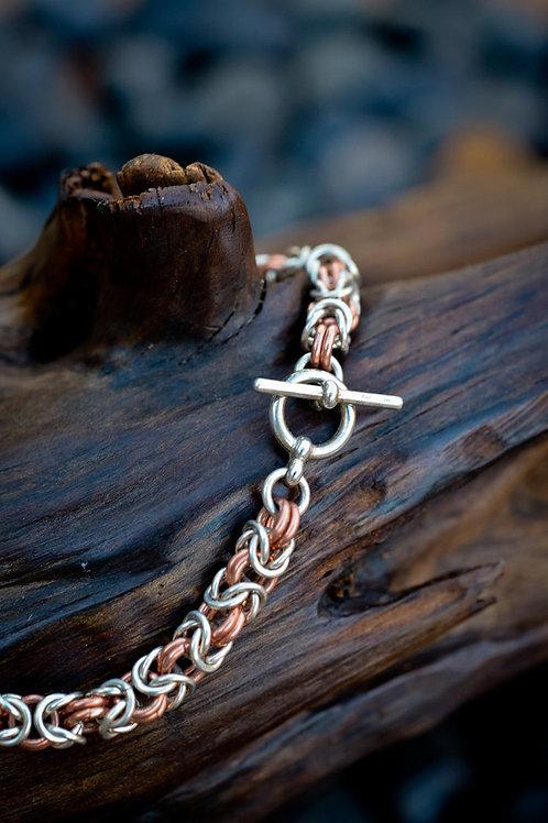 Byzantine Bracelet in Sterling Silver & Copper