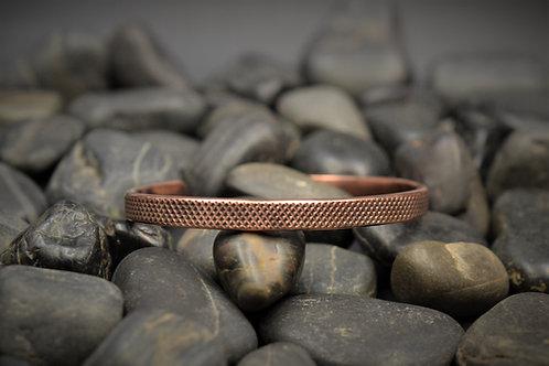 Copper Textured Cuff Bracelet