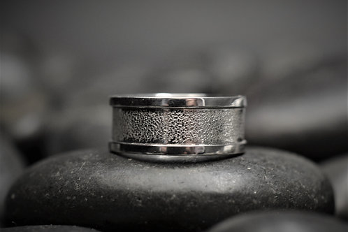 Pebble Textured Band in Sterling Silver
