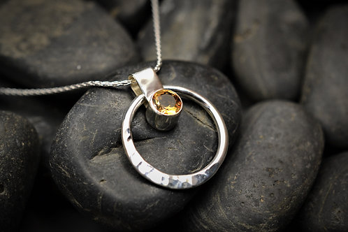 Circe of Life Pendant in Sterling Silver & Citrine