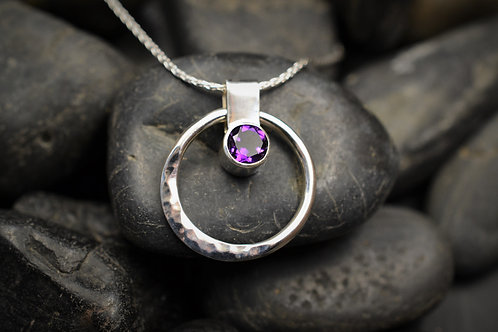 Circe of Life Pendant in Sterling Silver & Amethyst