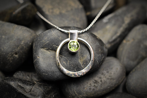 Circe of Life Pendant in Sterling Silver & Peridot