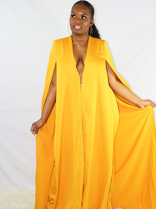 Conquer The World Cape Two Piece Set
