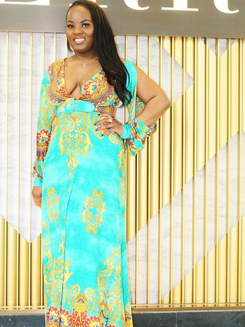 Falling In Love Multicolored Dress