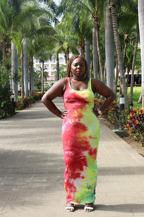 Purvida Tie Dye Maxi Dress