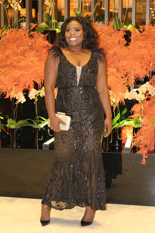 BEBE Maxi Black Dress