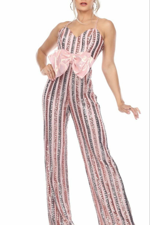 Stepping In Glory Bow Jumpsuit