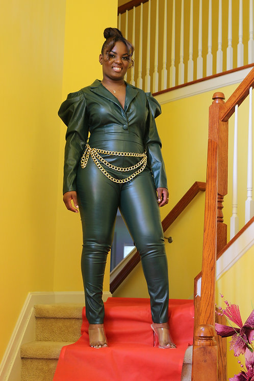 Rhythm of the night  jumpsuits with gold chain belt