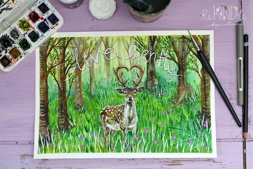 Original Woodland Watercolour