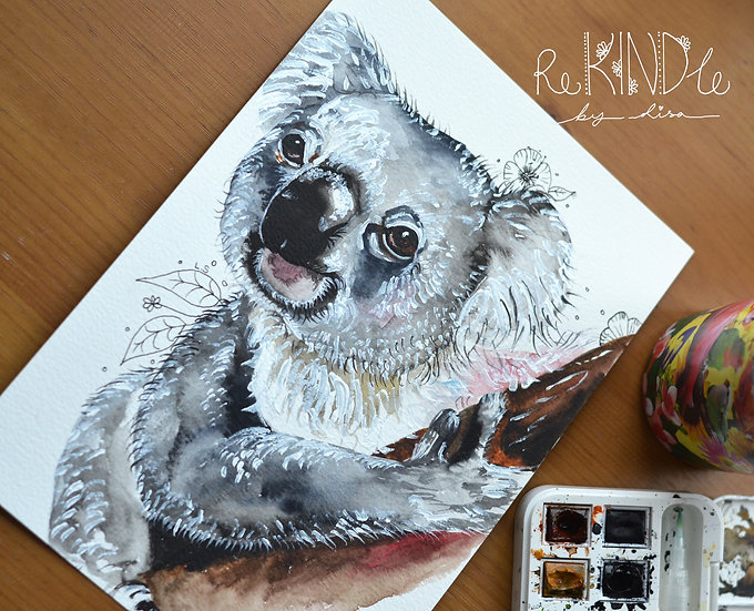 Original Koala Watercolour