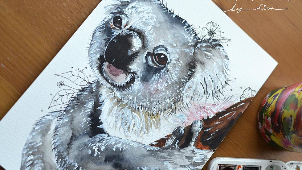 Original Koala Watercolour