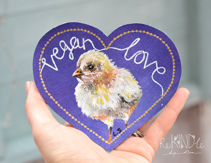 Hand Painted Chick Sew On Patch