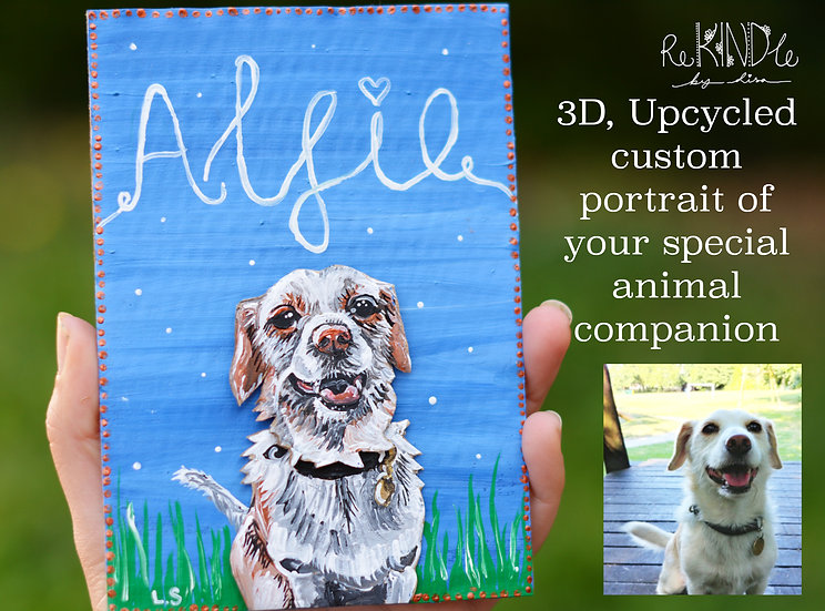 Animal Companion Upcycled Portraits
