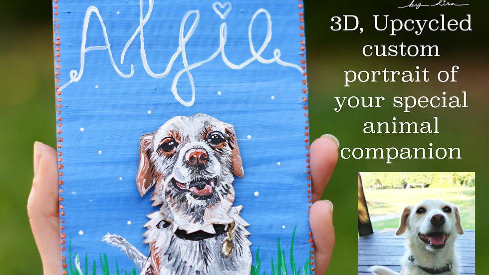 Animal Companion Upcycled Portraits