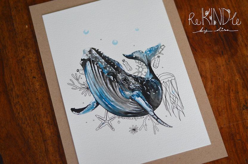 Original Watercolour Painting (Whale)