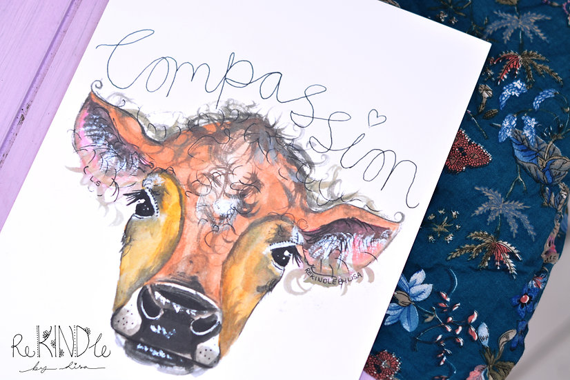 Vegan Art Print (Compassion)