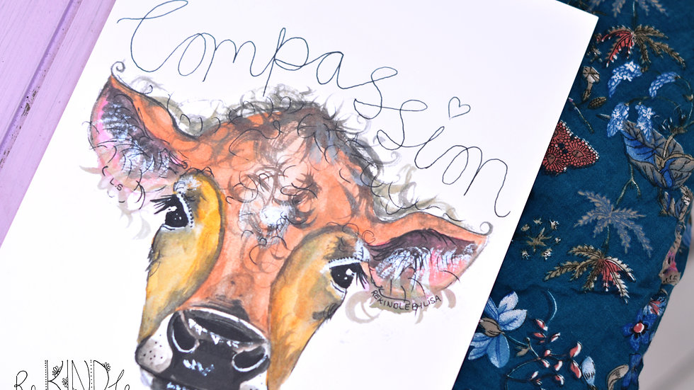Vegan Art Print (Compassion)