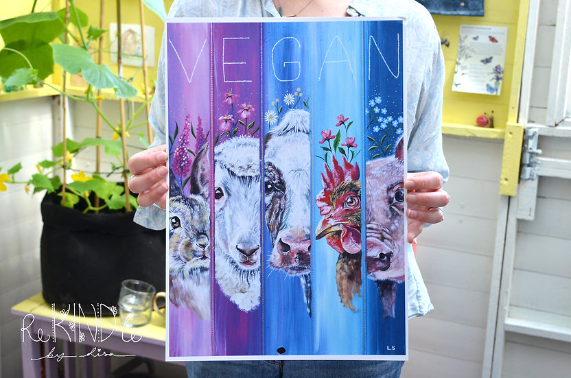 A3 Vegan, Recycled, Eco Friendly Print 'We See You' (FAULTY)