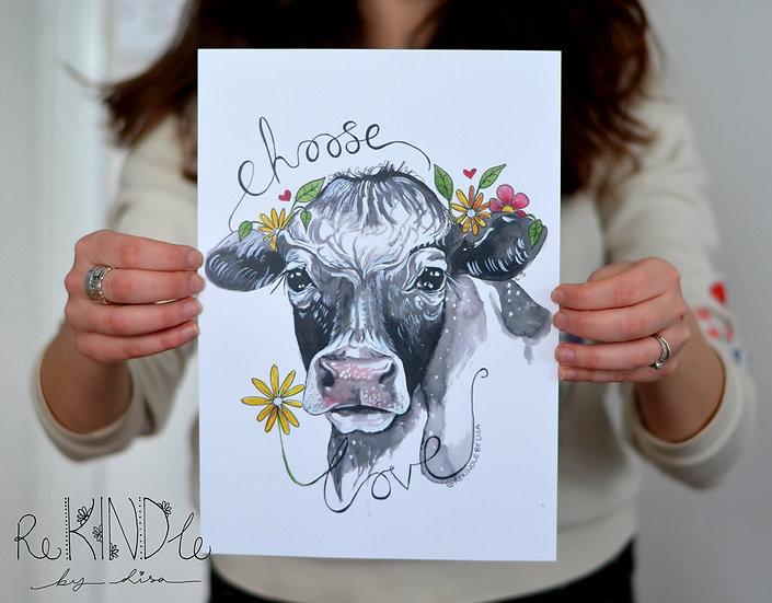 Vegan Art Print (Choose Love)