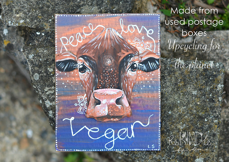 Vegan 3D Upcycled Wall Art