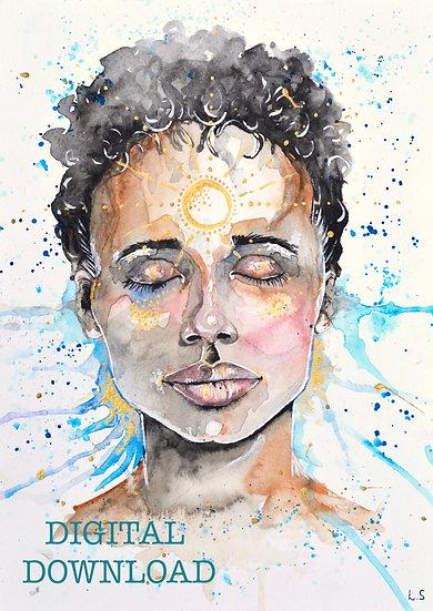 PRINTABLE  'Journey Within' Self Love Meditation Art (Digital Download)