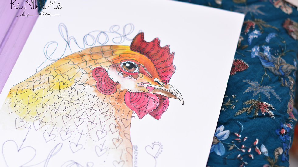 Vegan Art Print (Chicken)