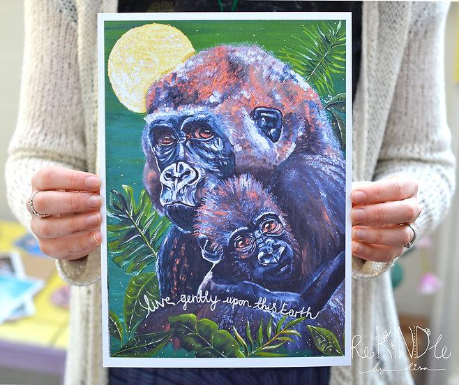 A5/ A4 Vegan, Eco Friendly, Recycled Print Gorilla