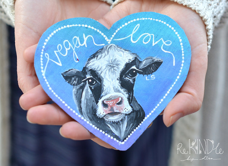 Hand Painted Cow Sew On Patch