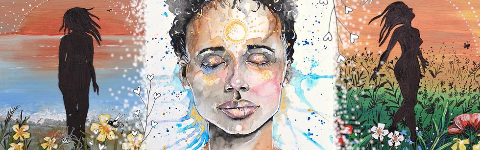 Self love art, self care, wellbeing