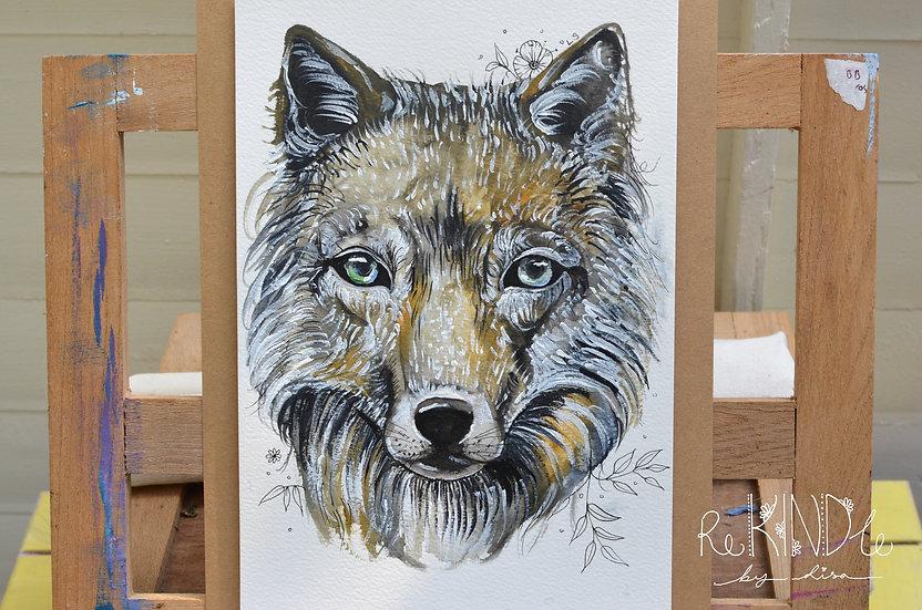 Original Watercolour Painting (Wolf)