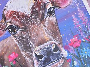 vegan art print cow