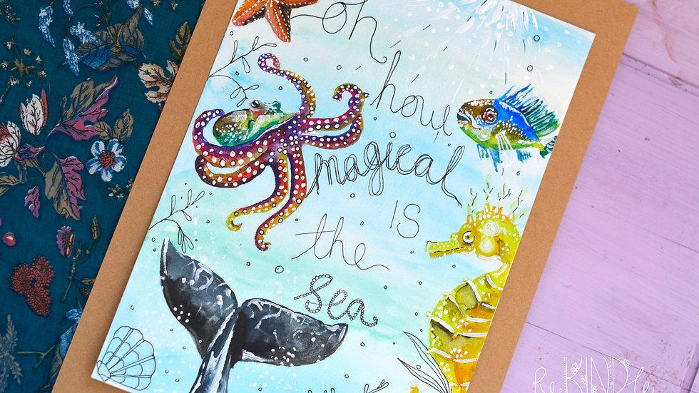 Original Sea Life Watercolour