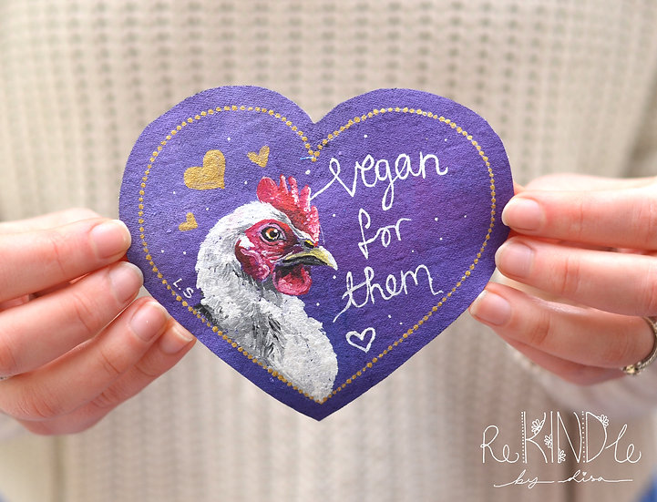 Hand Painted Chicken Sew On Patch
