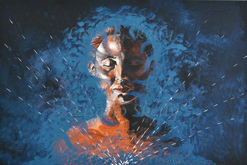 Signed Original Acrylic on Canvas 'Meditate'