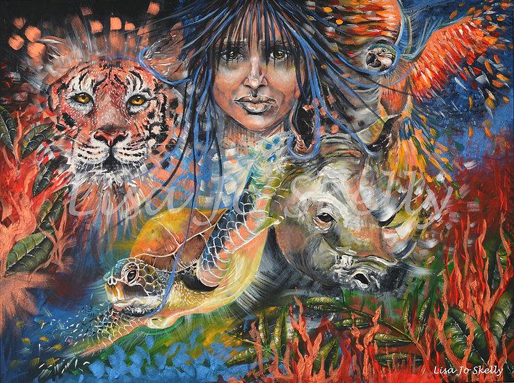 'When We Wake Up' Original, Signed Large Acrylic on Canvas