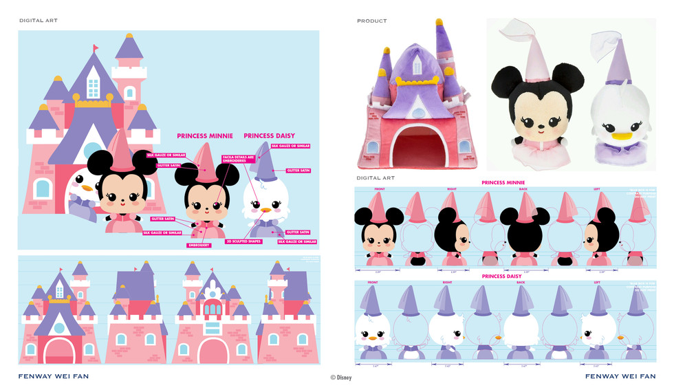 Disney Plush Castle Play Set ©Disney
