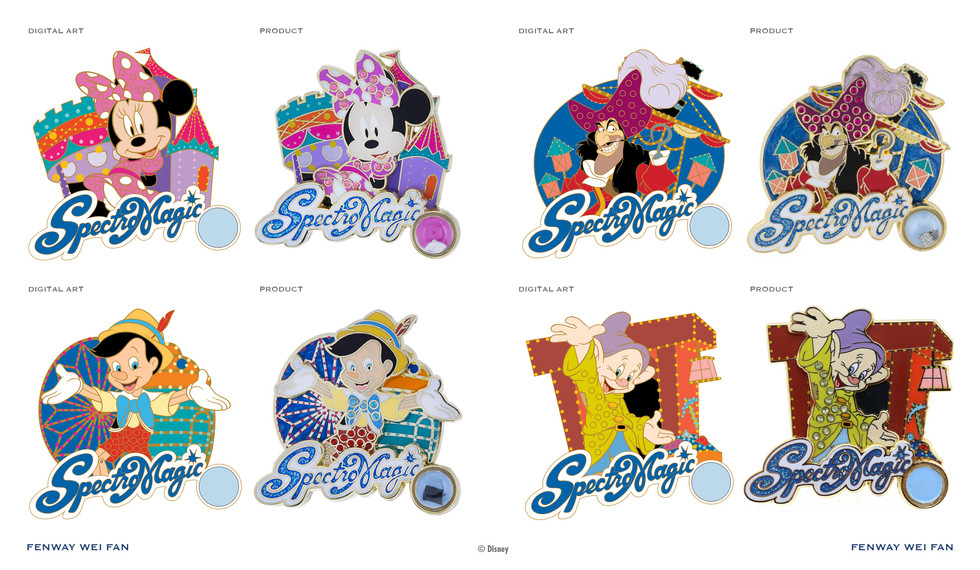 SpectroMagic Piece of Disney History series pins 2015 ©Disney