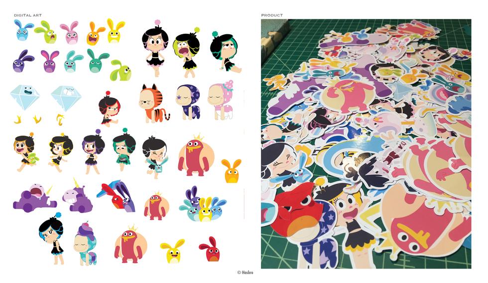 Hanazuki Sticker Set © Hasbro