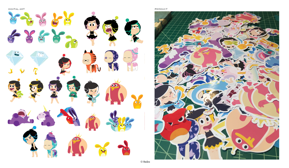 Hanazuki Sticker Set © Hasbro