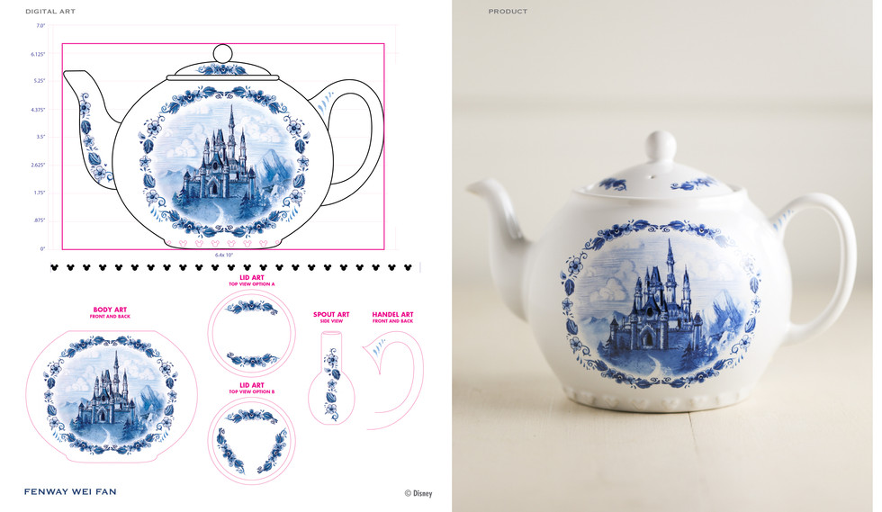 Cinderella Castle Blue and White Teapot 2017 ©Disney