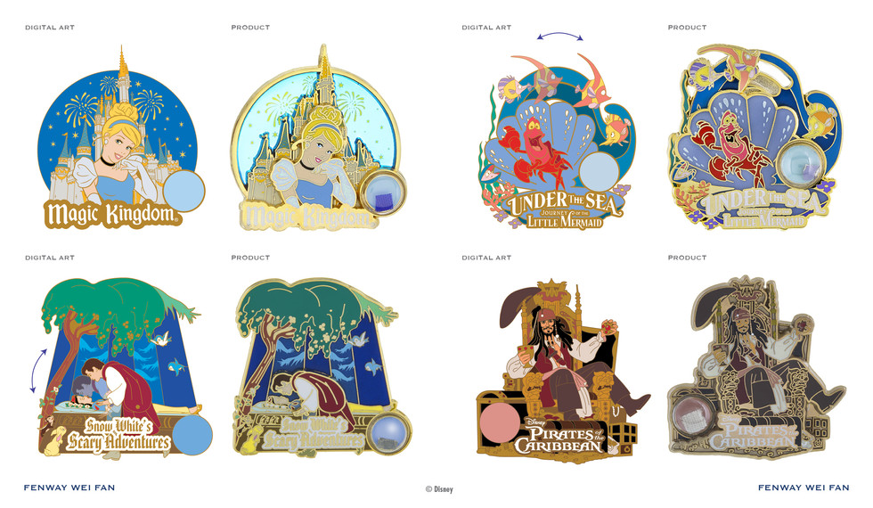 Disney History series pins 2016 ©Disney