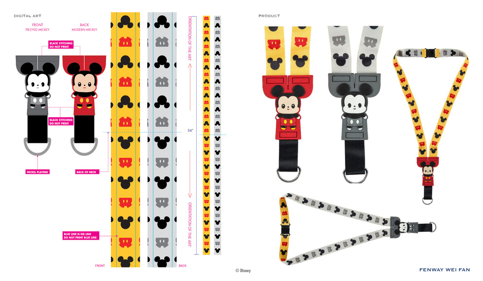 Mickey PVC Buddies Lanyard ©Disney