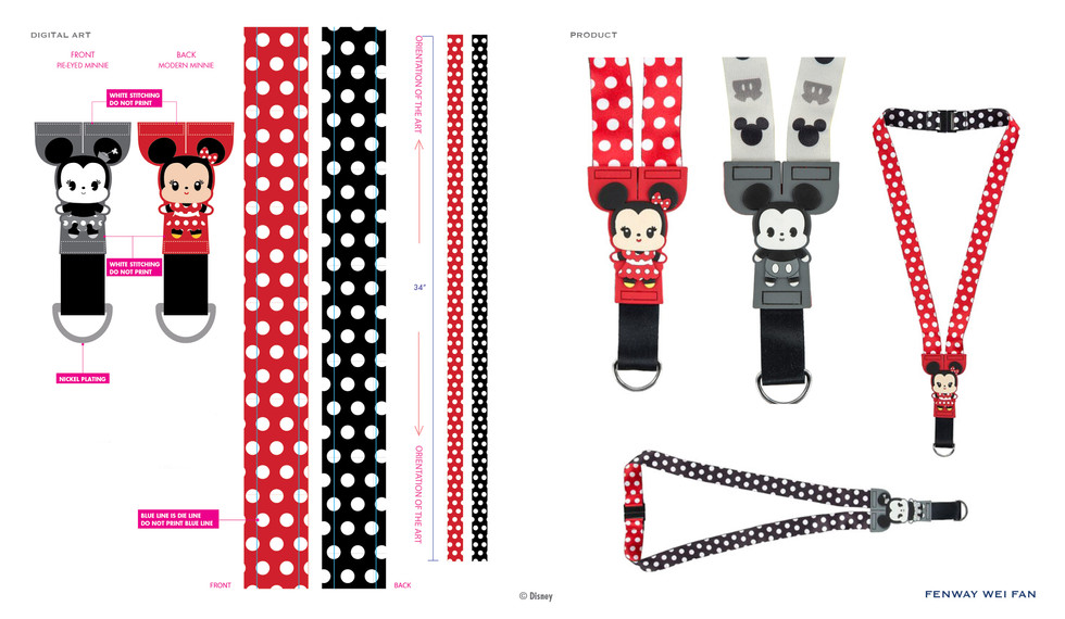 Minnie PVC Buddies Lanyard ©Disney