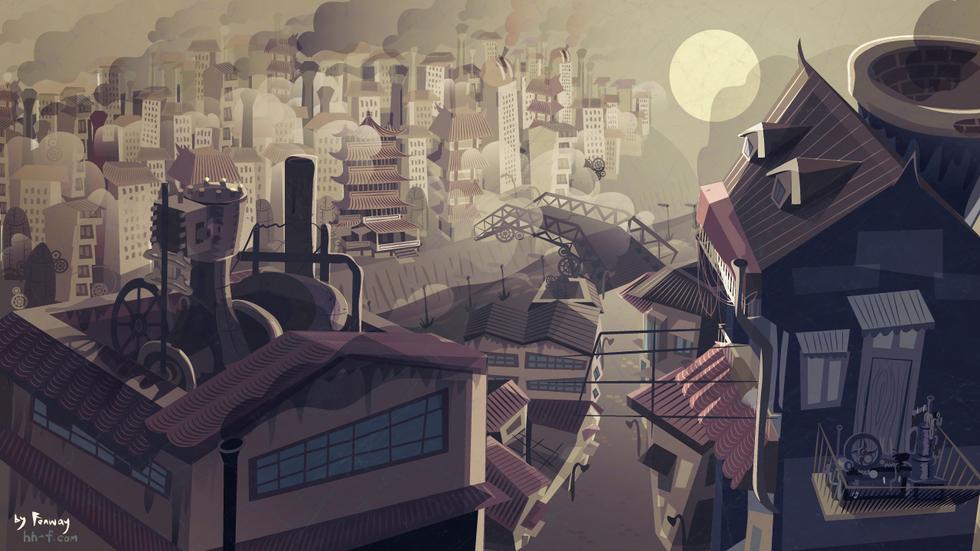 City background Art