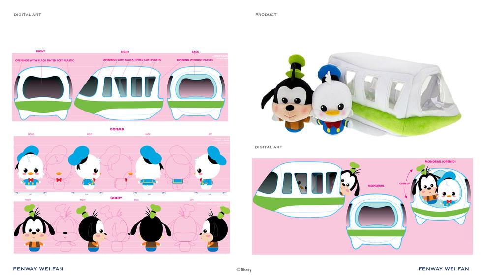 Disney Plush Monorail Play Set ©Disney