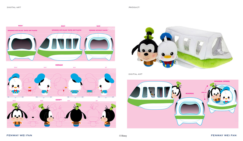 Disney Plush Monorail Play Set ©Disney