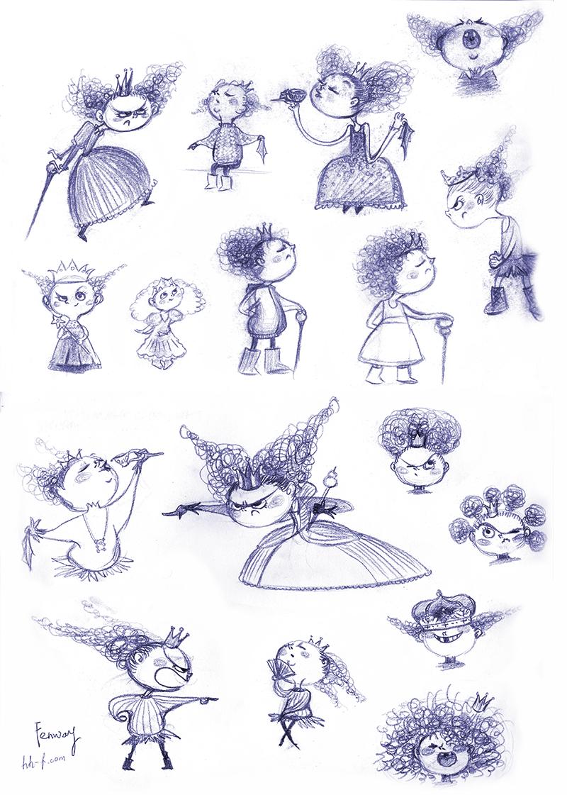 Little Queen Character Sketch
