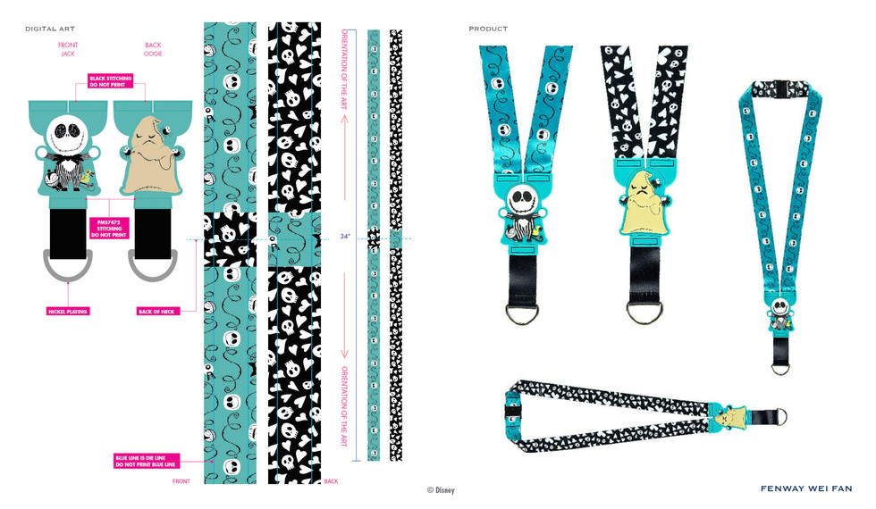Nightmare Before Christmas PVC Buddies Lanyard ©Disney
