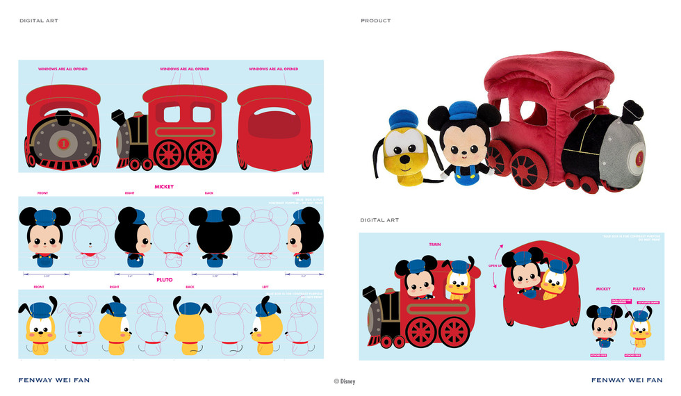 Disney Plush Train Play Set ©Disney