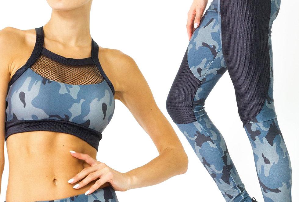 Revanel Veloso Supplex Moisture-Resistant Fashion Leggings & Sports Bra Set